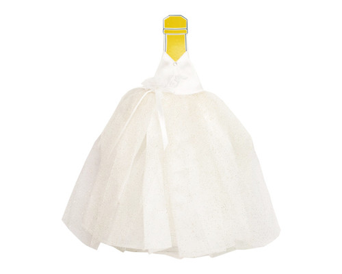 White Glitter Quinceanera Champagne Bottle Dress - Pack of 3