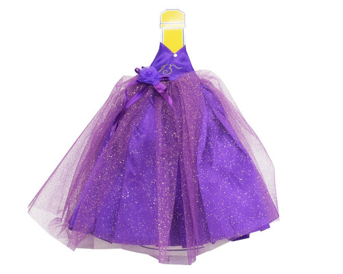 Purple Glitter Quinceanera Champagne Bottle Dress - Pack of 3