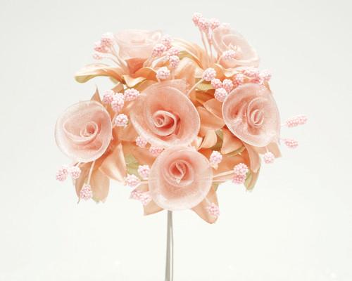 "1.5"" Blush Organza Silk Flowers - Pack of 72"