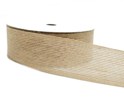 """1 1/2"""" x 5 Yards Natural Jute Rustic Burlap Ribbon - Pack of 5 Rolls"""