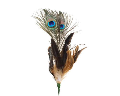 """22""""- 25 White Peacock Feather - Pack of 10 Picks"""
