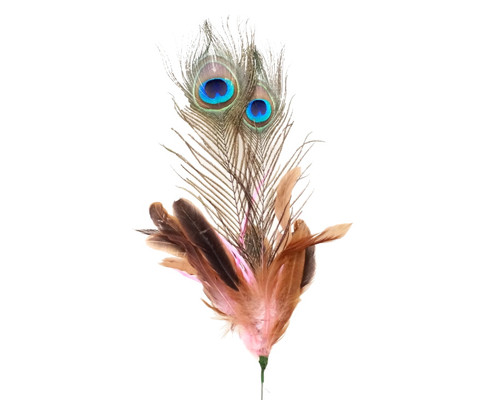 """22""""- 25"""" Pink Peacock Feather - Pack of 10 Picks"""