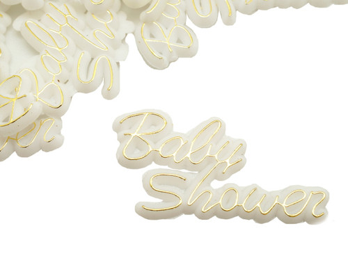 "1.5"" Wide Gold Baby Shower Plastic Charms - Pack of 144 (1 Gross)"