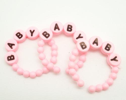 """1.5"""" Pink Baby Shower Bracelets Favor - Pack of 144 Count"""