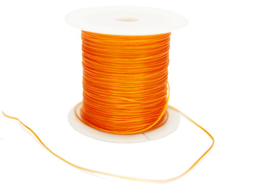 8 Yards Orange Strong & Stretchy Elastic Thread - Pack of 25 Spools