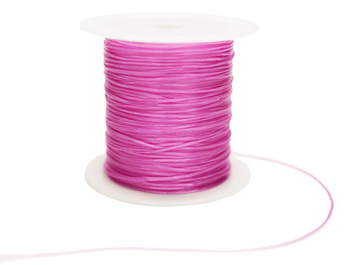 8 Yards Pink Strong & Stretchy Elastic Thread - Pack of 25 Spools