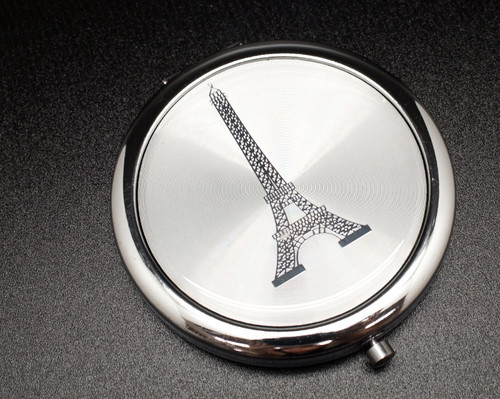 "3"" Silver Eiffel Tower Compact Mirror - 12 Mis Quince Compact Hand Mirrors"