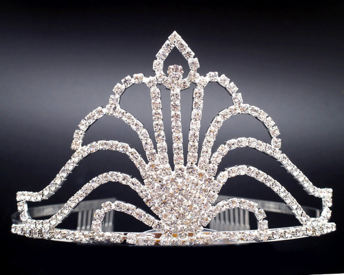 "3"" Super Size Crown Crystal Rhinestone Tiara (Y904)"