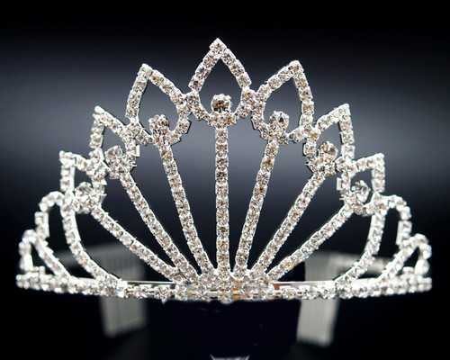 "3"" Super Size Crown Crystal Rhinestone Tiara (Y907)"