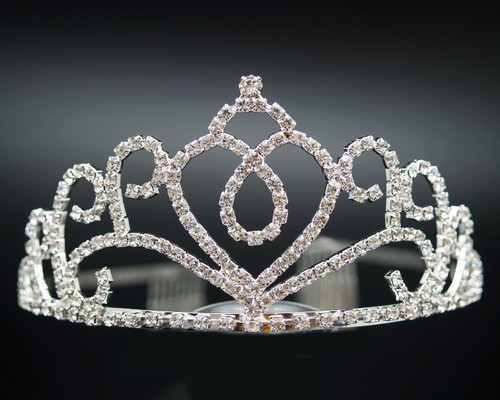 "2.5"" Crystal Rhinestone Crown Tiara (Y907)"