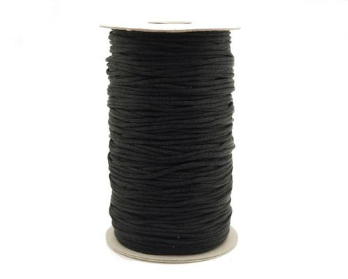 2mm wide x 200 yards Black Rattail Cord Trims - 1 Spool