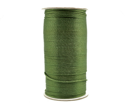 2mm wide x 200 yards Moss Green Rattail Cord Trims - 1 Spool