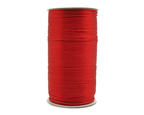 2mm wide x 200 yards Red Rattail Cord Trims - 1 Spool