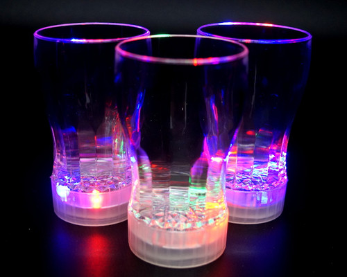 "4.25"" Flashing LED Light Up Party Cup - Pack of 12"