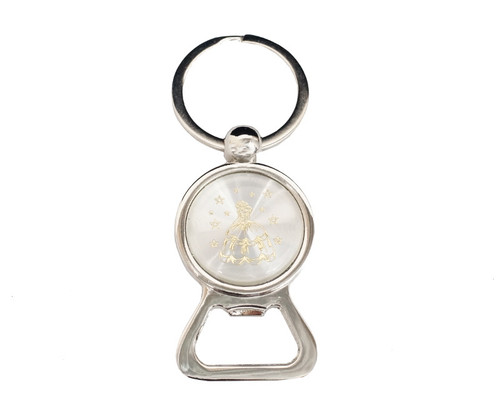 "3 1/4"" Gold Mis Quince Anos Bottle Opener Keychain  - Pack of 12"