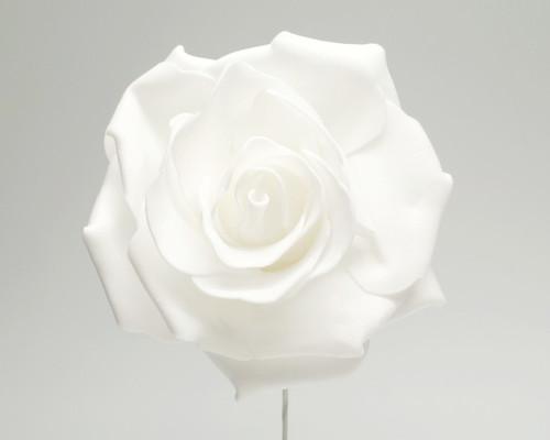 """4"""" White Rose Foam Flowers - Pack of 12"""