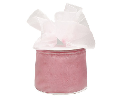 """2 3/4""""x25 yards Solid Light Pink Organza Pull Bows Gift Ribbon - Pack of 3 Rolls"""