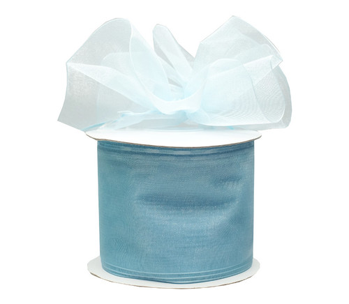 """2 3/4""""x25 yards Solid Light Blue Pull Bows Gift Ribbon - Pack of 3 Rolls"""