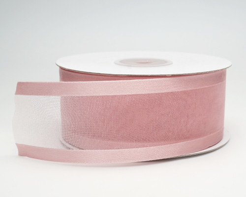 "1.5""x25 yards Blush Organza Satin Edge Gift Ribbon - Pack of 5 Rolls"