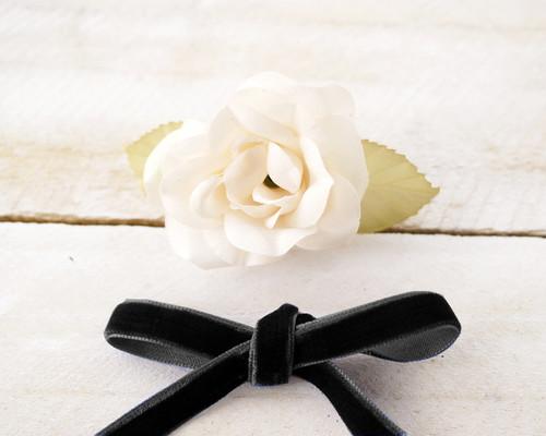 """3/8"""" x 50 Yards Black Velvet Ribbon"""