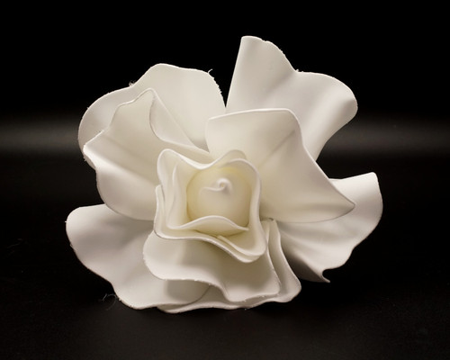 """8"""" White Rose Foam Flower"""