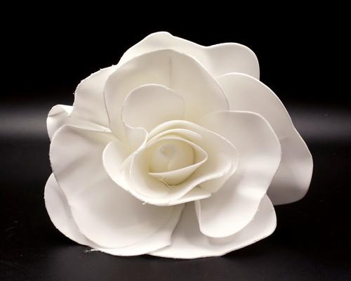 """12"""" White Rose Foam Flower"""