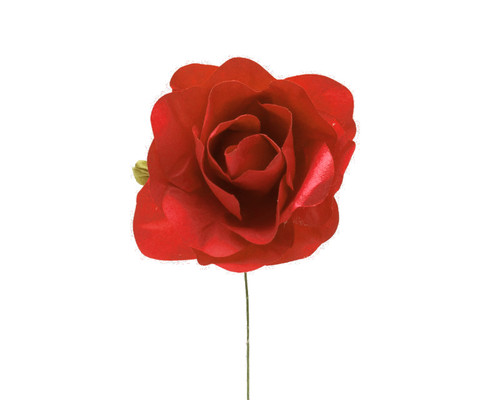 "2"" Red Big Rose Paper Craft Flowers - Pack of 12"