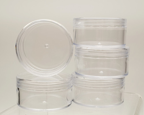 "2 1/2"" Diameter Clear Round Gift Favor Box - Pack of 12 Pieces"