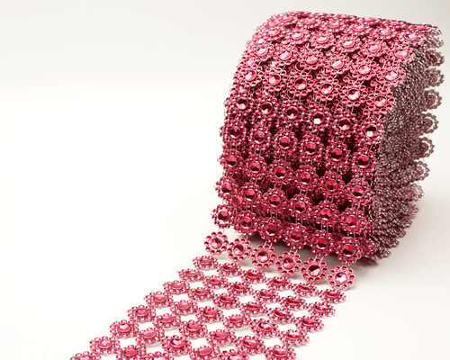 "4"" x 10 yards (30ft) Burgundy Flower Mesh Wrap"