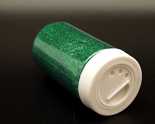 3.5 oz Emerald Green Fine Craft Glitter with Grid Sifter - Pack of 6 Bottles