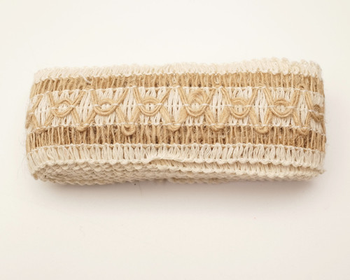 "1.5"" x 2 Yards Natural Jute Rustic Mesh Net Burlap Ribbon - Pack of 10 Rolls"