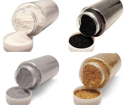 Tuxedo Mixed Bulk Craft Glitter Pack in Black, White, Gold, Silver (4 LB total)