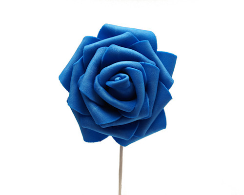 "2 3/4"" Royal Blue Rose Foam Flowers - Pack of 120 Pieces"