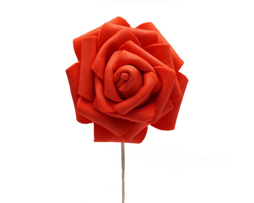 """2 3/4"""" Red Rose Foam Flowers - Pack of 120 Pieces"""