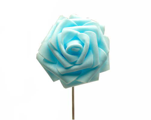 "2 3/4"" Blue Rose Foam Flowers - Pack of 120 Pieces"