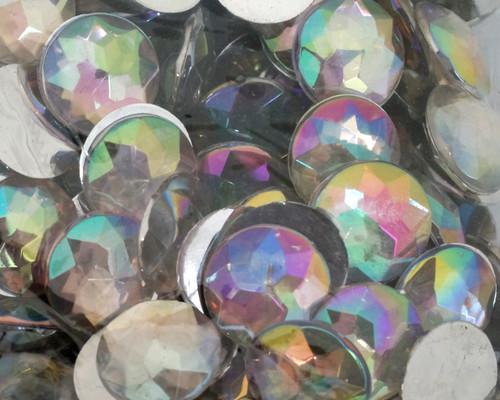 10mm Clear AB Flat Back Loose Plastic Rhinestones - Pack of 2000 Loose Rhinestones
