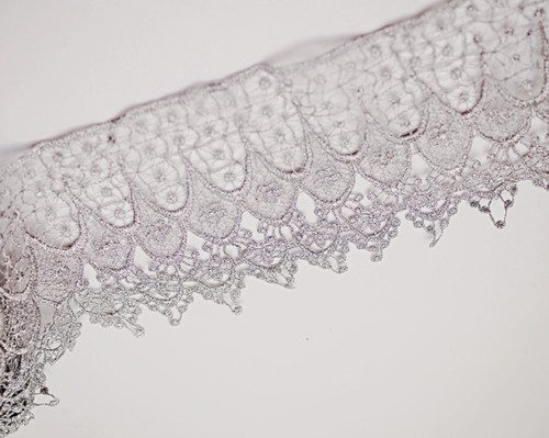 1/&12 white venice lace fabric trim 5 yards