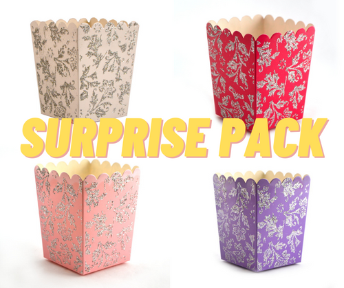SURPRISE PACK Mixed Glitter Popcorn Party Favor Box - 500 Pieces
