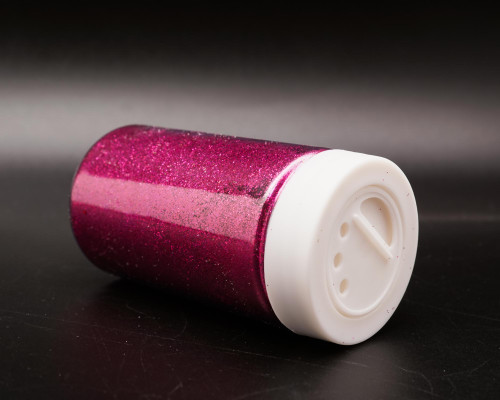 3.5 oz Fuchsia Fine Craft Glitter with Grid Sifter - Pack of 6 Bottles