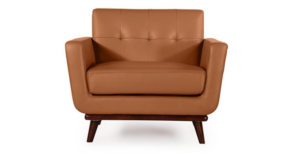 Jackie Chair, Saddle Brown