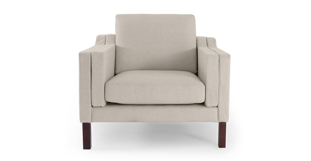 Monroe Chair, Heather White