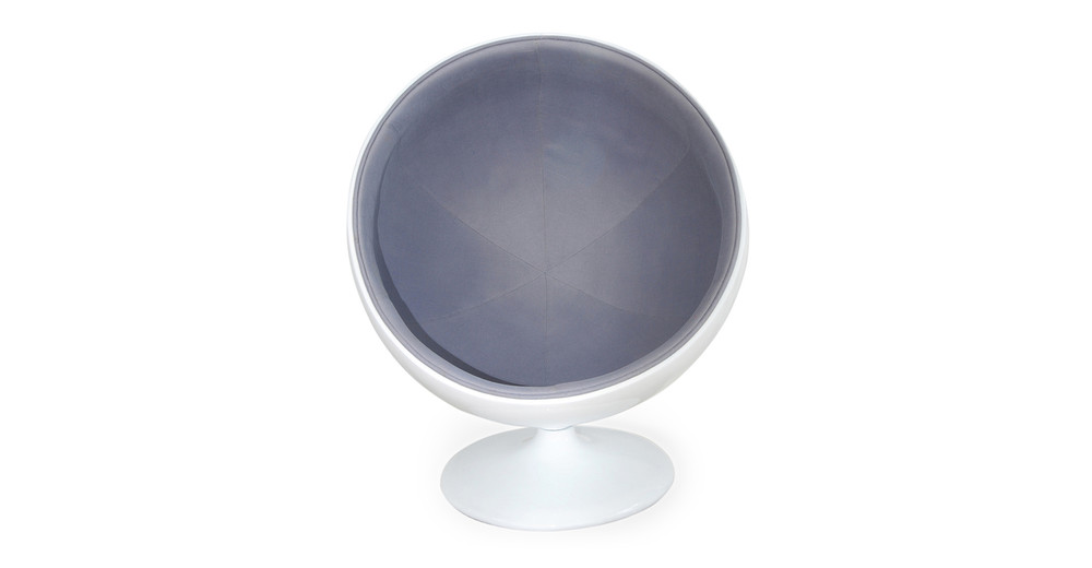 Prime Ball Chair White Grey Inzonedesignstudio Interior Chair Design Inzonedesignstudiocom
