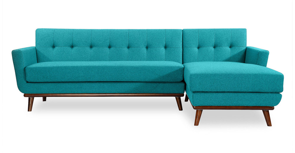 Jackie Sofa Sectional Right, Turquoise