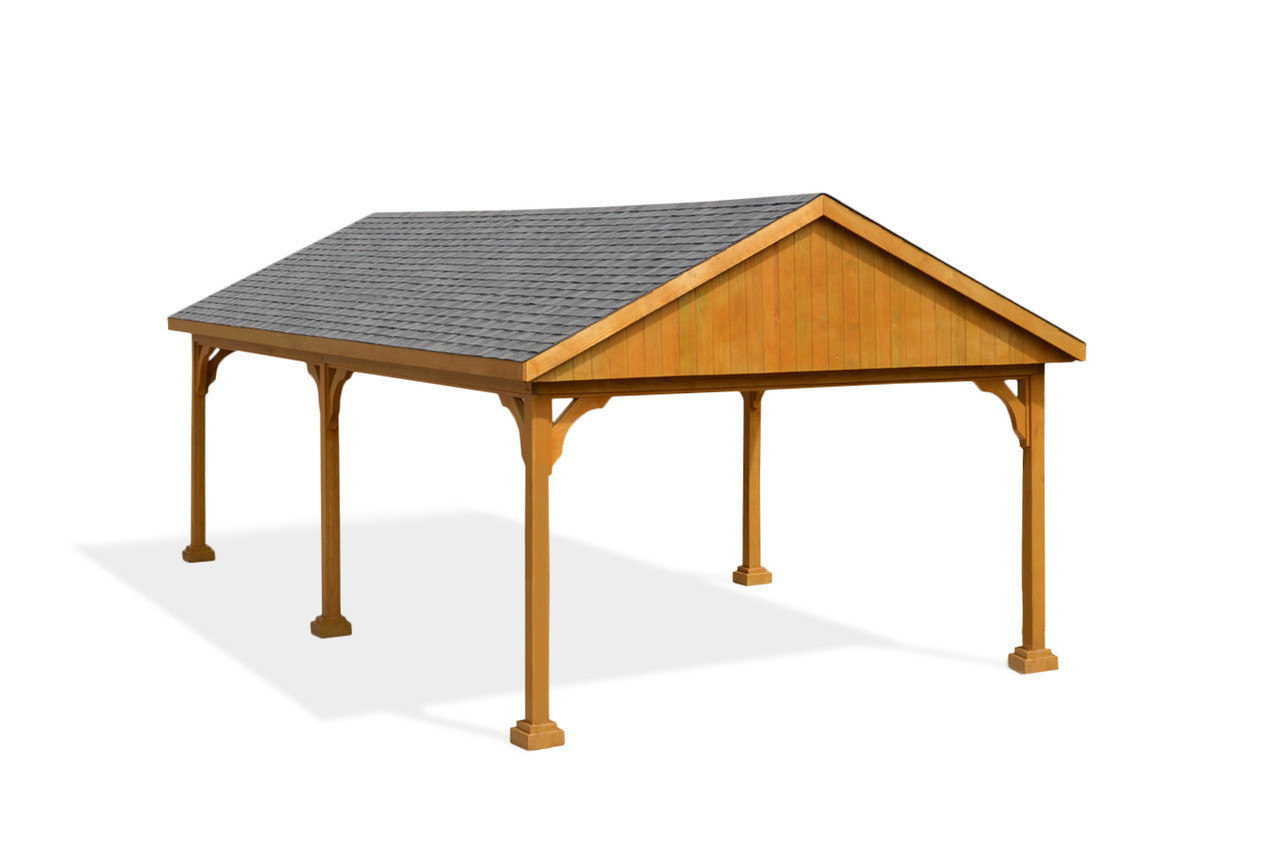 27 x 13 pressure treated pine pavilion, 6 posts