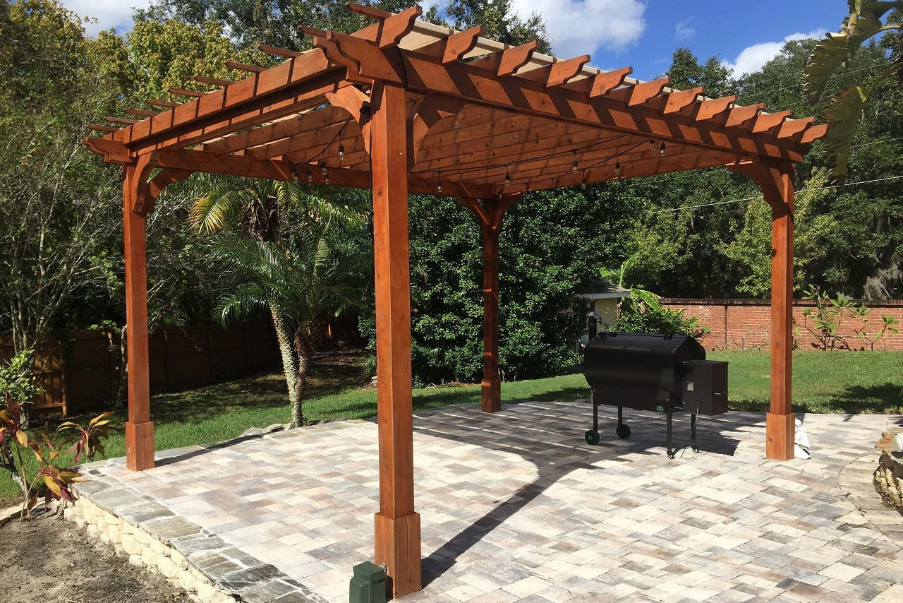 - Red Cedar Pergola Kits Ready To Assemble All Sizes
