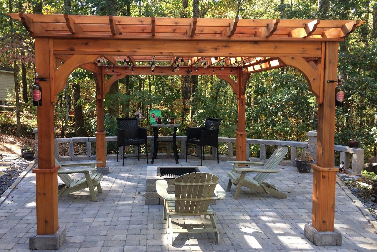 10' x 12' Serenity Cedar Pergola Kit / Western Red Cedar / Tyrone, GA.