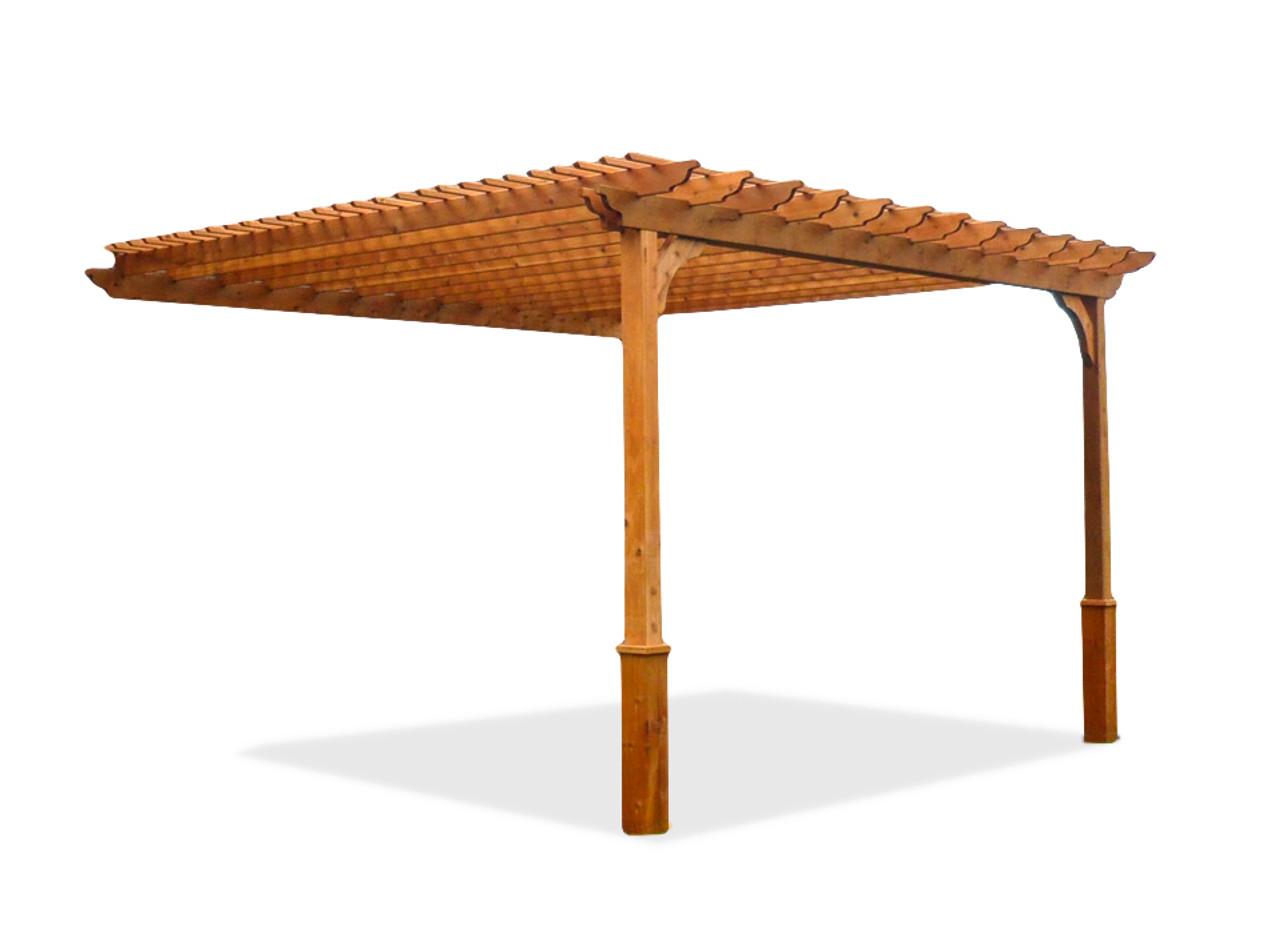 Classic Cedar Pergola Kit - Wall Mounted