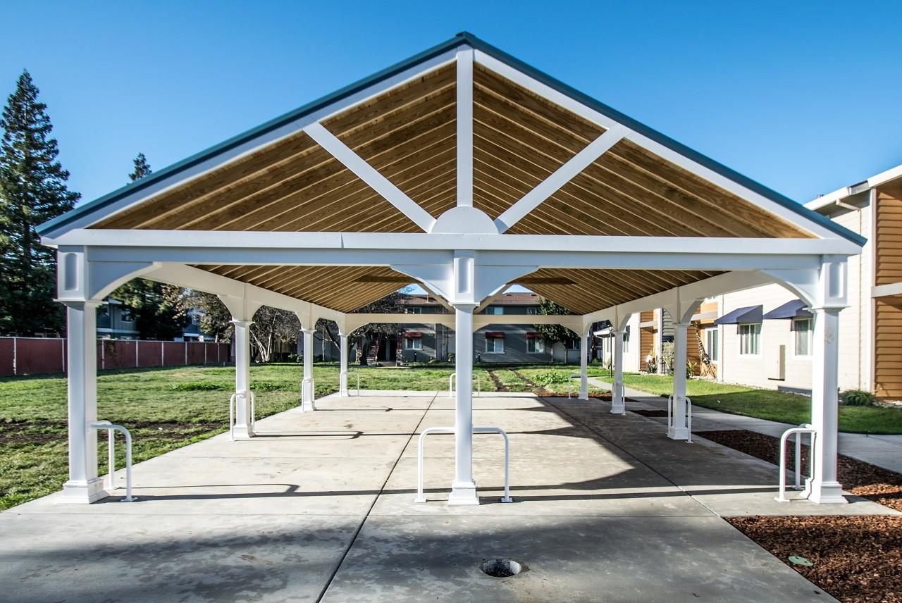 36' x 24' Premium Vinyl Pavilion - Gabled Roof / Winters, CA