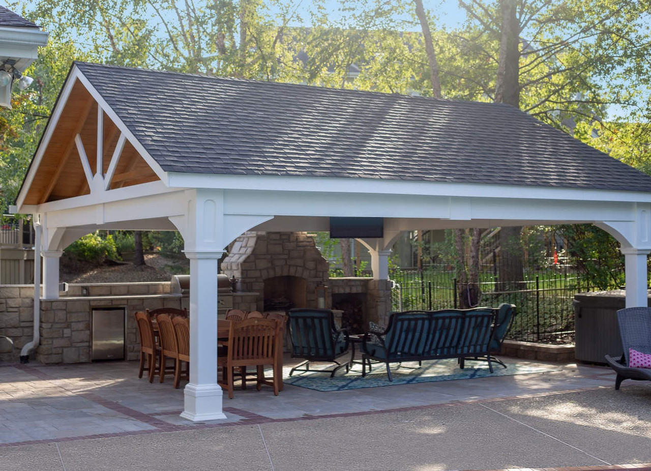 Premium Vinyl Pavilion - Gabled Roof