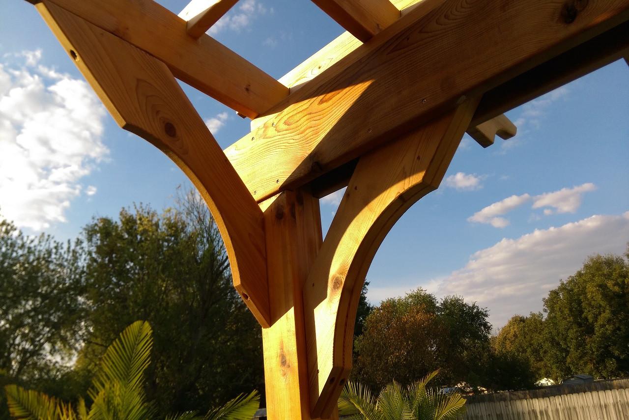 9 x 12 Arched Cedar Pergola Kit / Southhaven, Mississippi